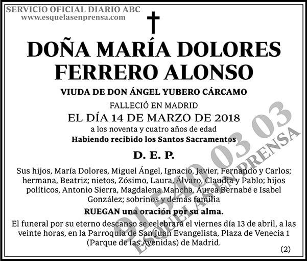 María Dolores Ferrero Alonso